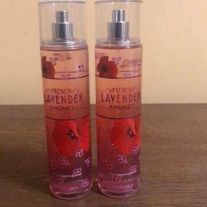 2 Bath & Body Works French Lavender & Honey Mist